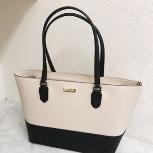 KATE SPADE COTTON AND BLACK Dally Bag